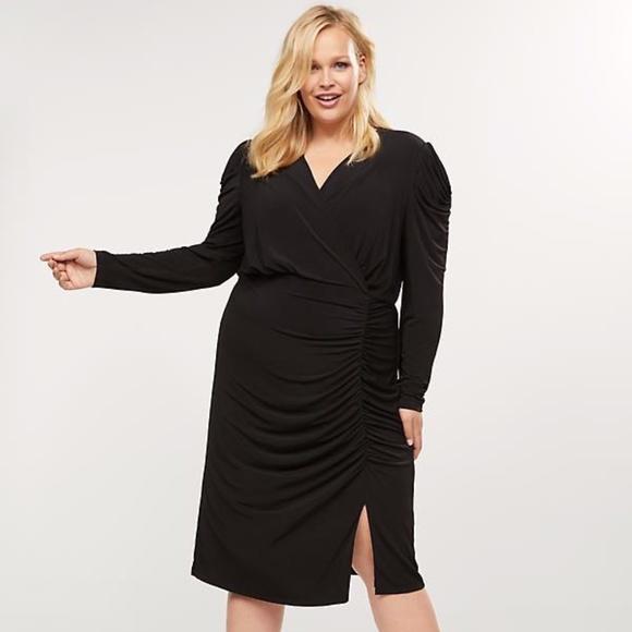 Lane Bryant Dresses & Skirts - Lane Bryant Ruched Sheath Dress NWT Size 16